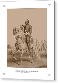 Civil War General James Garfield Acrylic Print by War Is Hell Store
