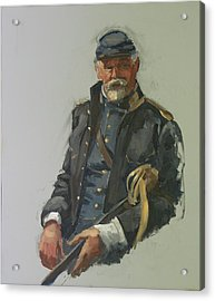 Civil War Officer Acrylic Print by Mary McInnis
