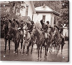 Civil War Soldiers On Horses Acrylic Print