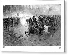 Civil War Union Cavalry Charge Acrylic Print