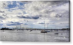 Acrylic Print featuring the photograph Claiborne Pell Newport Bridge by Adrian LaRoque