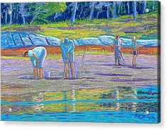 Clam Diggers Acrylic Print by Rae  Smith  PSC