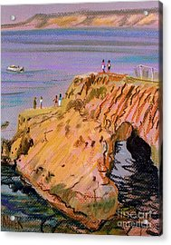 Clam Rock Evening Acrylic Print by Donald Maier