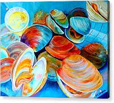 Clams At The Jersey Shore Acrylic Print