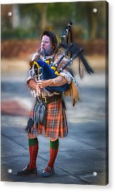 Clan Macintosh Piper Acrylic Print by John Haldane