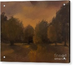 Clapham Common At Dusk Acrylic Print by Genevieve Brown