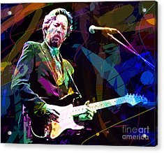 Clapton Live Acrylic Print by David Lloyd Glover