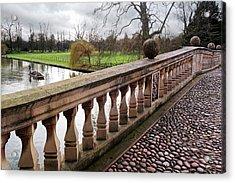 Acrylic Print featuring the photograph Clare College Bridge Cambridge by Gill Billington