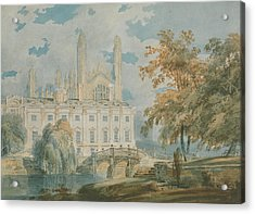 Clare Hall And Kings College Chapel, Cambridge  Acrylic Print by Joseph Mallord William Turner