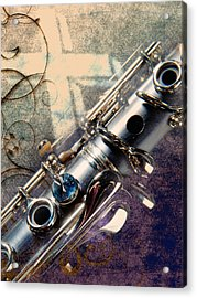 Clarinet Music Instrument Against A Cross 3520.02 Acrylic Print