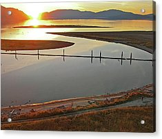Clark Fork Delta Acrylic Print by Jerry Luther