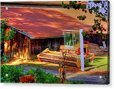 Clarkburg Combine Acrylic Print by Randy Wehner Photography