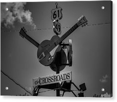 Clarksdale - The Crossroads 001 Bw Acrylic Print