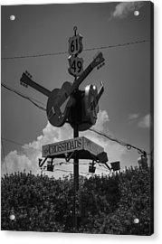 Clarksdale - The Crossroads 003 Bw Acrylic Print