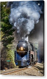 Class J 611 Steam Engine At Ridgecrest Acrylic Print
