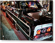 Acrylic Print featuring the photograph Classic Black Chevy Impala by Dean Harte