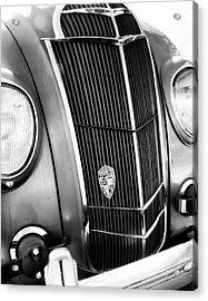Acrylic Print featuring the photograph Classic Car Grill 1935 Desoto - Photography by Ann Powell