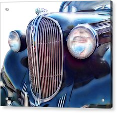 Acrylic Print featuring the photograph Classic Car Grill 1938 Plymouth by Ann Powell