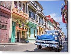 Classic Car In Havana, Cuba Acrylic Print