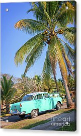 Classic Car In Playa Larga Acrylic Print