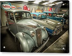 Acrylic Print featuring the photograph Classic Car Memorabilia by Adrian Evans