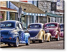 Classic Car Show Acrylic Print by Carol Leigh