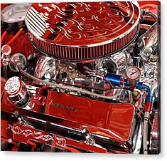 Classic Chevrolet Engine Acrylic Print by Dennis Stein