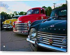 Classic Chrome Bumpers Acrylic Print