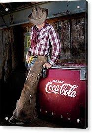 Classic Coca-cola Cowboy Acrylic Print