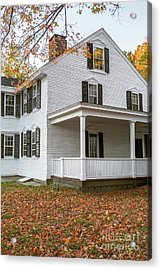 Classic Colonial Home Acrylic Print by Edward Fielding