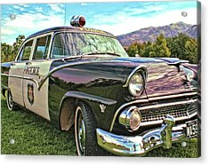 Acrylic Print featuring the photograph Classic Cop Car by David King