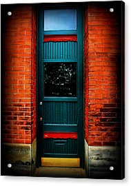 Classic Door Acrylic Print by Perry Webster