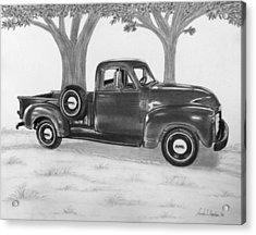 Classic Gmc Truck Acrylic Print by Nicole I Hamilton