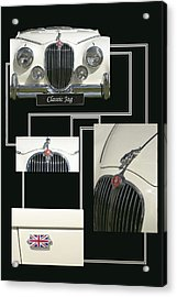 Classic Jag Acrylic Print by Hazy Apple