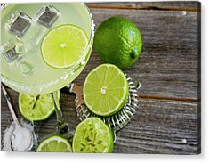 Acrylic Print featuring the photograph Classic Lime Margarita by Teri Virbickis