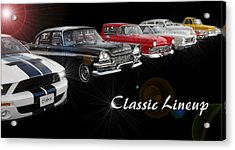 Classic Lineup Acrylic Print by David and Lynn Keller