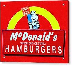 Classic Mcdonald's Hamburgers - Billion Served - Painterly Acrylic Print by Wingsdomain Art and Photography