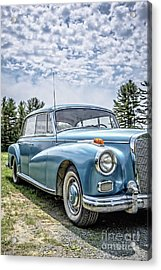 Acrylic Print featuring the photograph Classic Mercedes Old Four Door Sedan by Edward Fielding