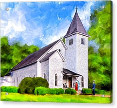 Classic Methodist Church - Oglethorpe Georgia Acrylic Print by Mark Tisdale