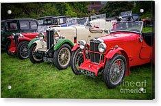Classic Mg Cars Acrylic Print