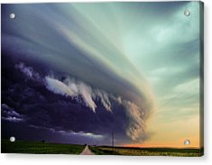 Classic Nebraska Shelf Cloud 027 Acrylic Print