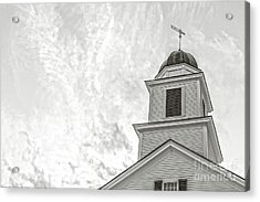 Acrylic Print featuring the photograph Classic New England Church Etna New Hampshire by Edward Fielding