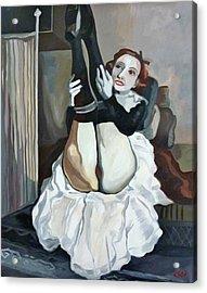 Classic Nude 6 Acrylic Print by Carmen Stanescu Kutzelnig