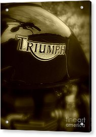 Classic Old Triumph Acrylic Print by Perry Webster