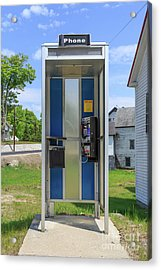 Classic Pay Phone Booth Acrylic Print