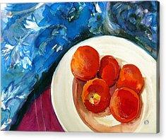 Classic Peaches Acrylic Print by Doranne Alden