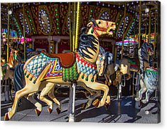 Classic Poney Ride At The Fair Acrylic Print