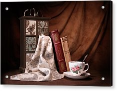 Classic Reads Still Life Acrylic Print by Tom Mc Nemar