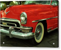 Classic Red Chrysler Acrylic Print