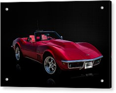 Classic Red Corvette Acrylic Print by Douglas Pittman